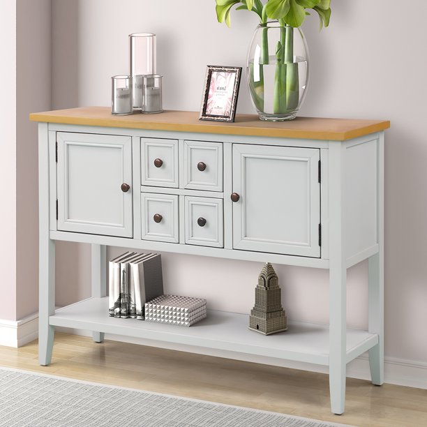 """Buffet Cabinet Sideboard, 46"""" Dining Room Console Table ..."""