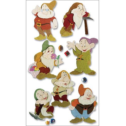Disney Princess Movie Dimensional Stickers, Snow White and The Seven Dwarves