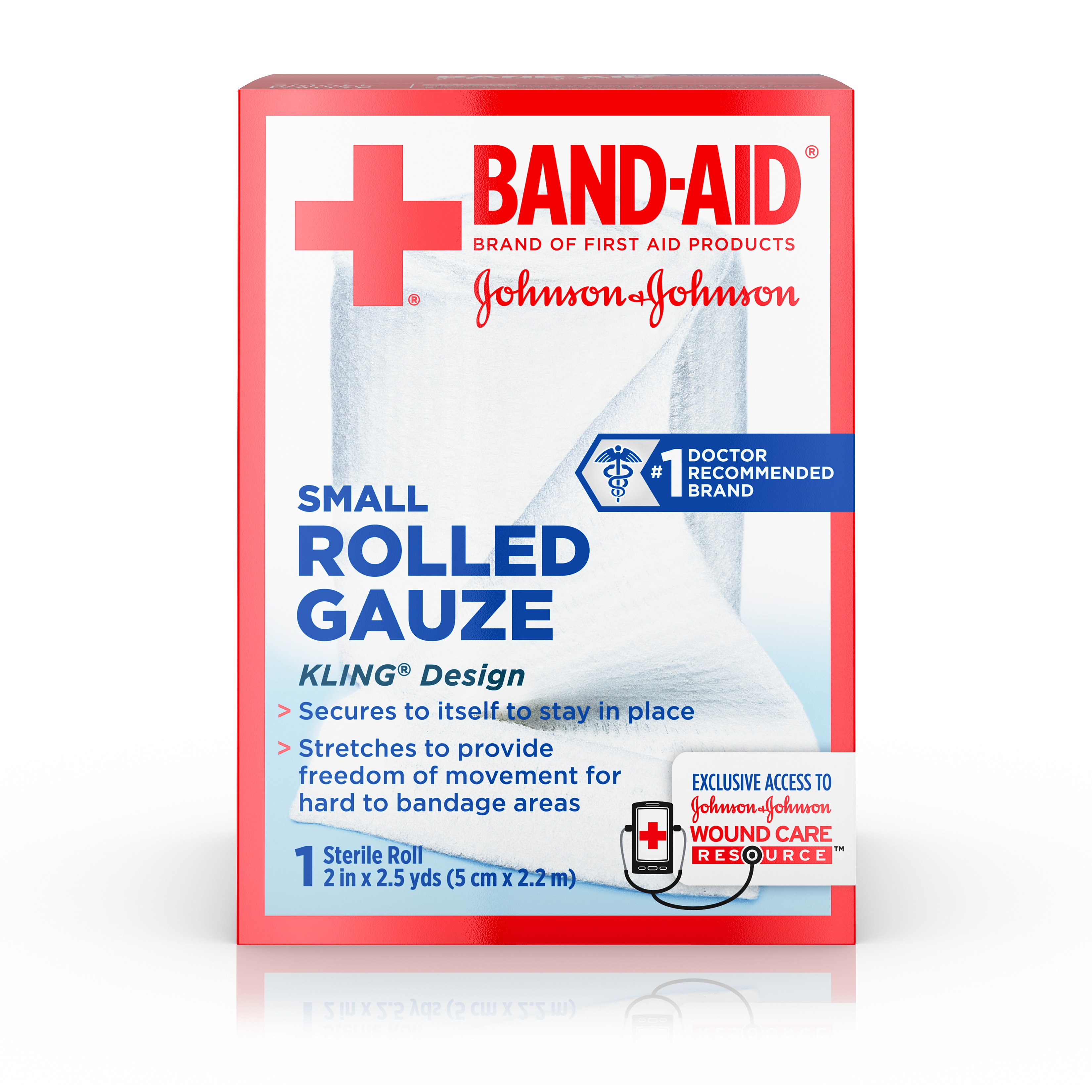 Click here to buy BAND-AID Brand of First Aid Products Rolled Gauze, 2 Inches by 2.5 Yards by Johnson & Johnson.