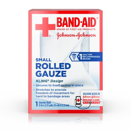 First Aid Textbook - Band-Aid Brand of First Aid Products Rolled Gauze, 2 Inches by 2.5 Yards