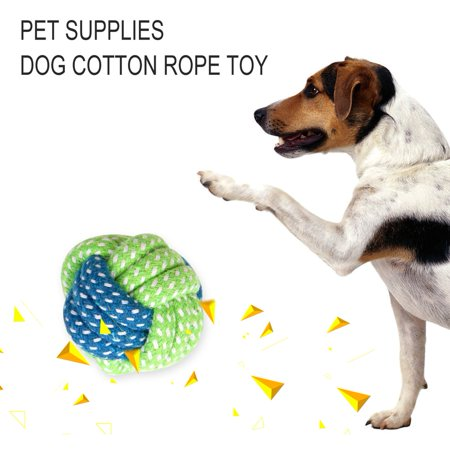 Pet Toy Dog Chews Cotton Rope Knot Ball Grinding Teeth Odontoprisis Pet Toys Funny Dog Bite Rope Universal Pet Supplies - image 3 de 5