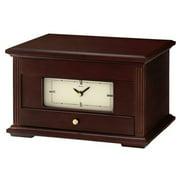 Seiko Jewelry Box with Mirror Wood Desk Clock - Black Hands - Tan Dial - QXG141BLH