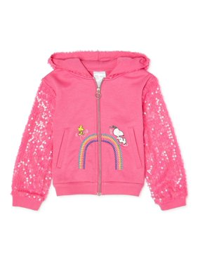 365 Kids From Garanimals Girls Snoopy Hooded Zip-Up Jacket, Sizes 4-10