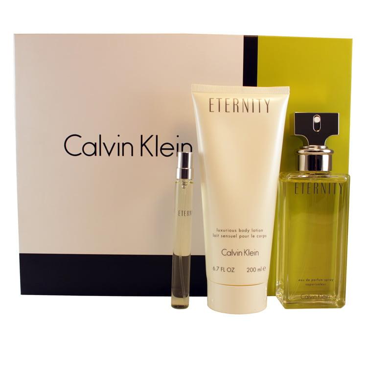 Calvin Klein 3-pc Gift Set ( Edp Spray 3.4 Oz + Edp Spray...