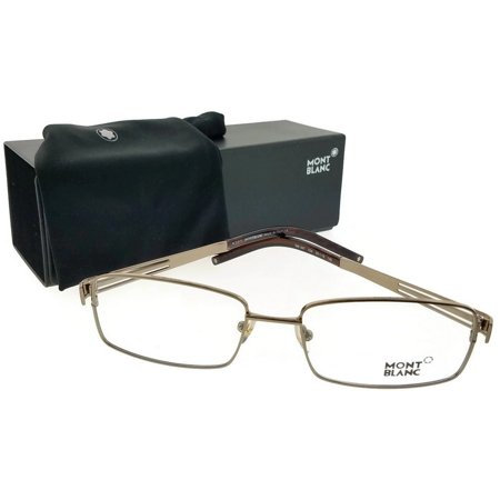 Mont Blanc MB0347-034-55 Mens Silver Frame Clear Lens Genuine Eyeglasses -