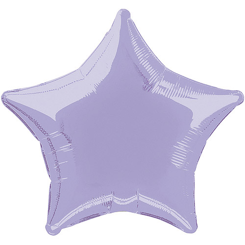 Foil Balloon, Star, 20 in, Lavender, 1ct