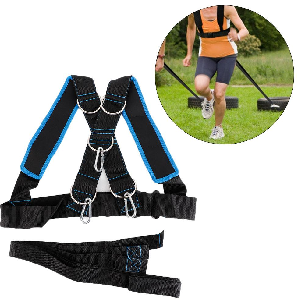 US Sports Resistance Band Harness Fitness Yoga Sled Strength Training Speed Band