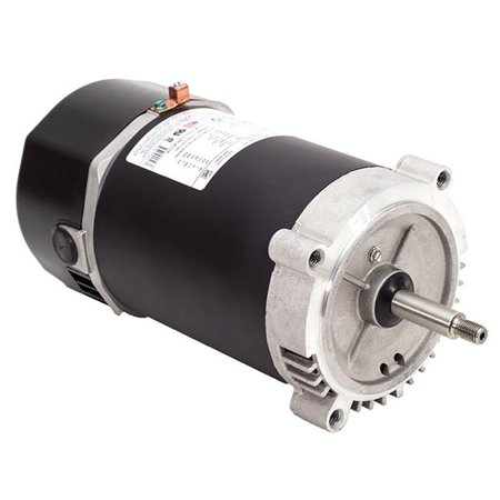 Bluffton B1321 0.75 HP Up Rated Single Speed Threaded Replacement Pool - Motor 0.75 Hp Single