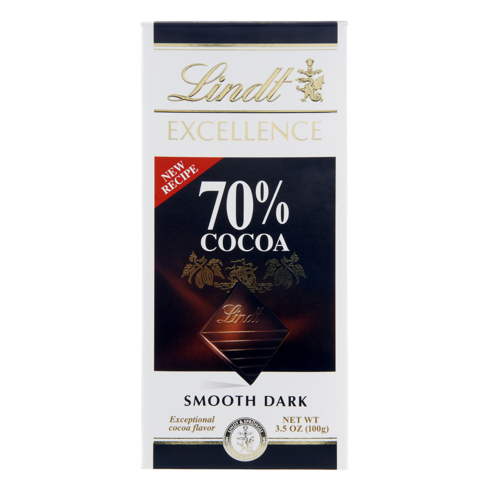 Lindt Excellence 70% Cocoa Smooth Dark Chocolate, 3.5 OZ