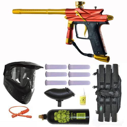 Click here to buy Azodin Blitz 3 Electronic Paintball Marker Gun 3Skull Mega Set.