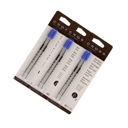 Cross Medium Black Ballpoint Refilll (3 Packs of 2 Refills) ()