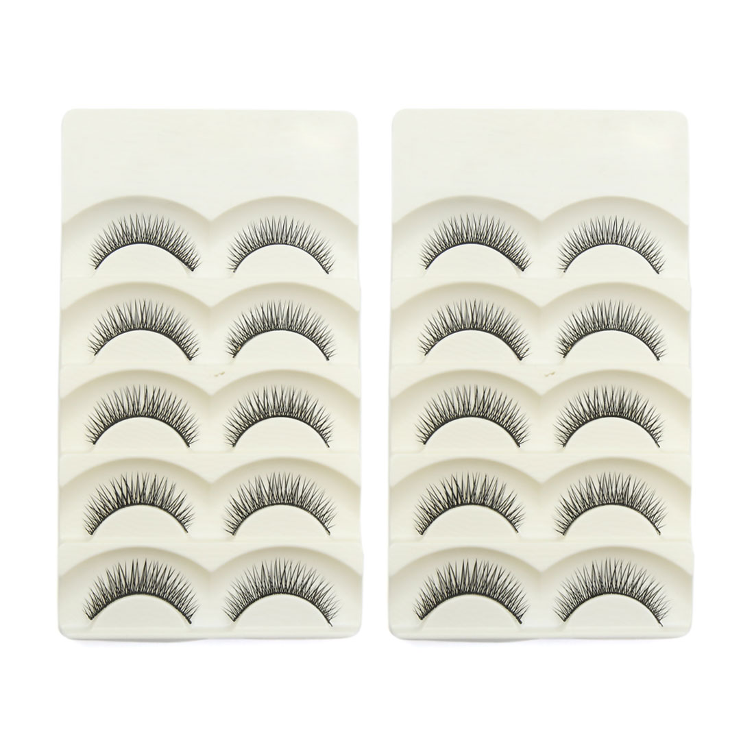 10 Pairs Natural Looking False Eyelashes Extension Eyes Makeup Cosmetic Tool #7