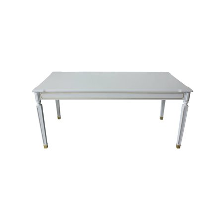 Marchesa Dining Table in Gold & Pearl Gray Finish