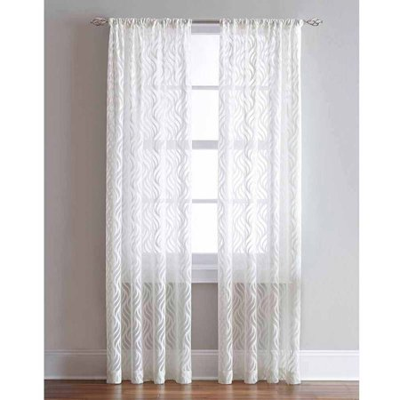 Lyric Rod Pocket Sheer Curtain Panel Walmart Com