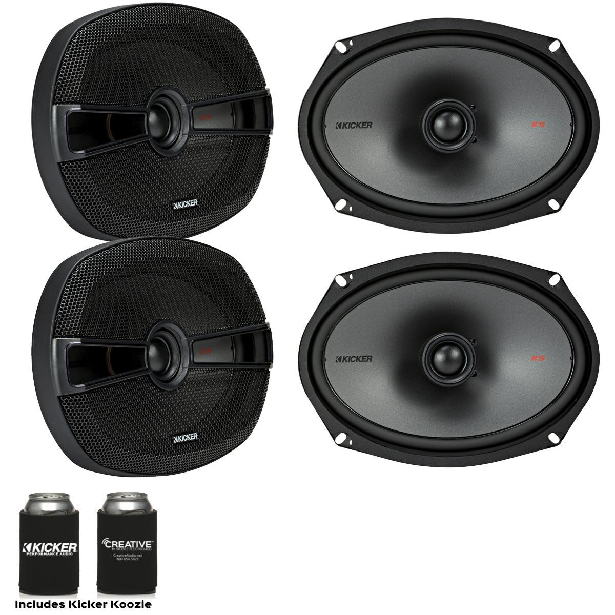 Kicker Speaker Bundle - Two pairs of Kicker 6x9 Inch 2-way KS-Series Speakers 44KSC6904