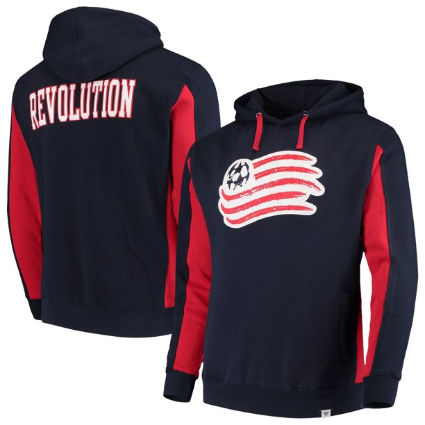 New England Revolution Fanatics Branded Thriller Pullover Hoodie - Blue/Red