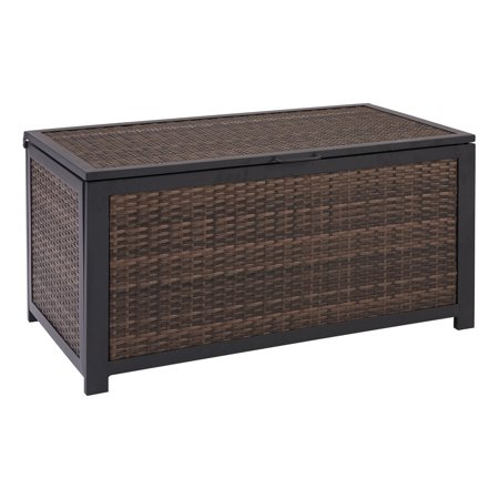 Mainstays Cassel Outdoor Wicker Deck Storage Box in