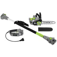 """Earthwise CVPS43010 2-in-1 Electric corded 7 Amp Convertible Pole Saw, Handheld Chain Saw 10"""" Bar and Chain"""
