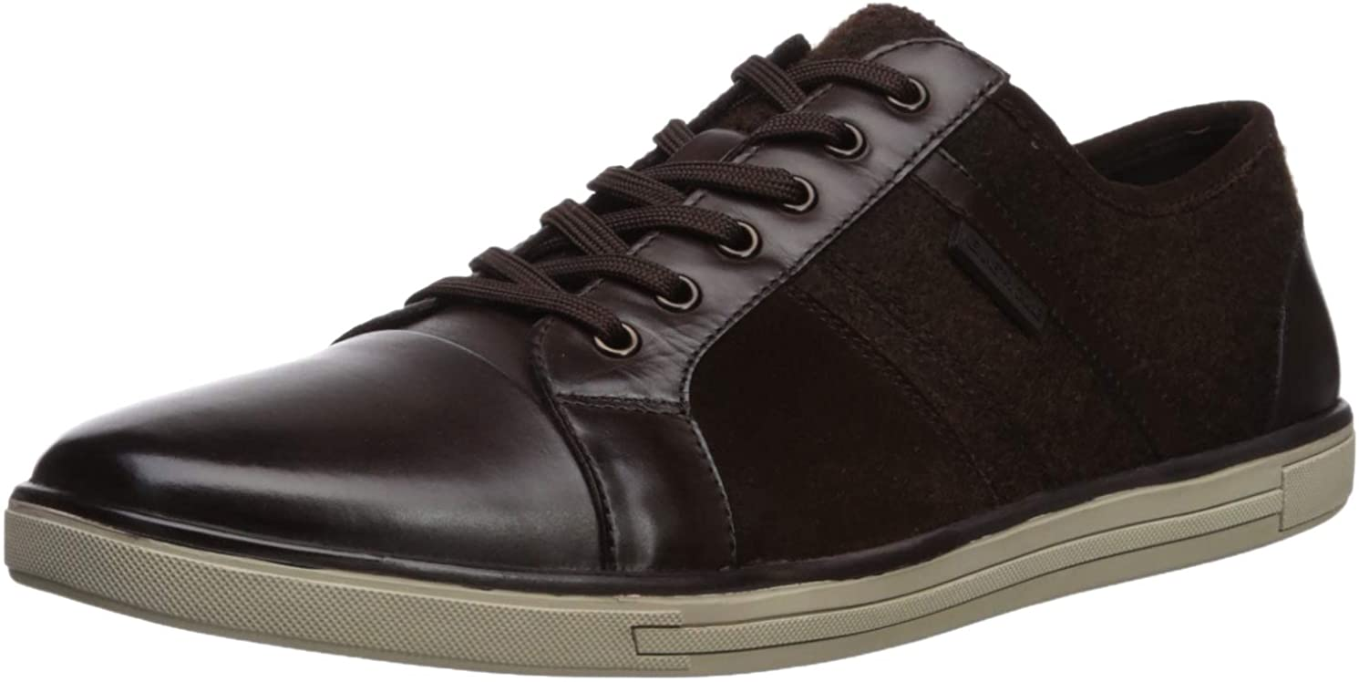 Initial Step Sneaker, Dark Brown