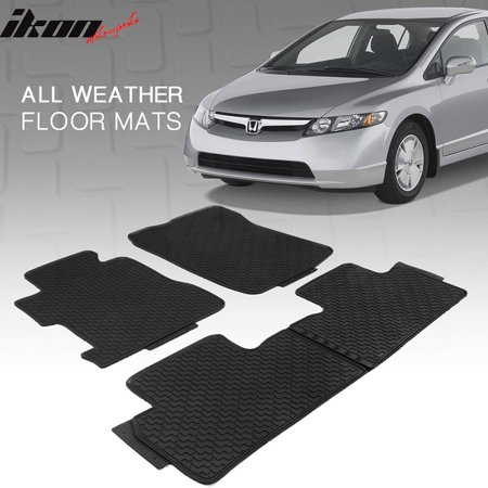 All Weather Floor Mats >> Fits 14 19 Nissan Rogue Latex All Weather Floor Mats Rubber Carpet Black