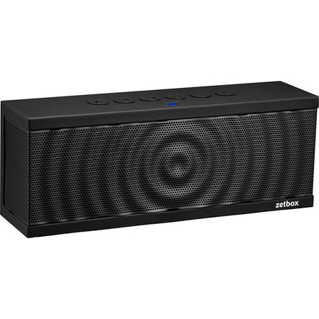 Bluetooth Speaker with Built-In Mic, Portable Wireless Loud Zetbox, NFC & AUX Connectivity, 10W, Up To 12 Hours Playtime, 33' Range - Black - By