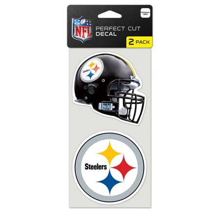 - Pittsburgh Steelers Official NFL 4 inch x 4 inch Each Die Cut Car Decal 2-Pack by Wincraft - Generic Brand
