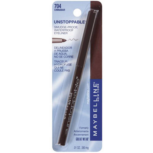 Maybelline New York Unstoppable Eyeliner, Cinnabar, 0.01 Oz