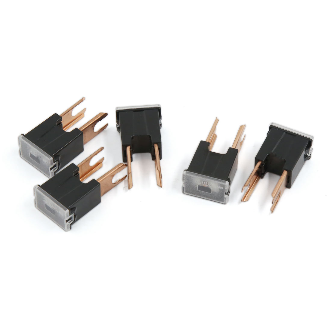 5 Pcs 32V 80A 2 Terminals Plug-in Type Male PAL Auto Link Fuse Black
