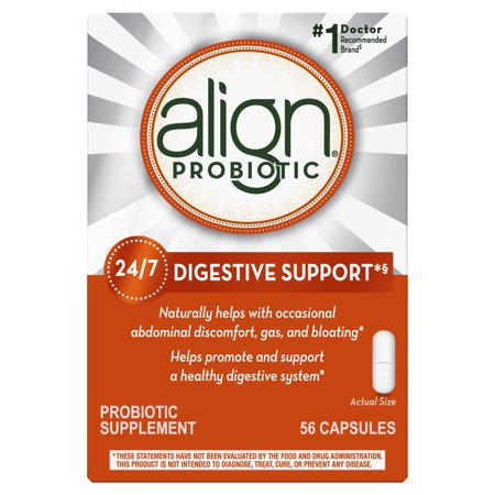 Align Probiotics, Probiotic Supplement for Daily Digestive Health, 56 capsules, #1 Recommended Probiotic by