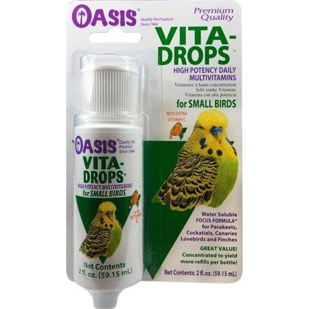 - Oasis Vita Drops Daily Multivitamin for Small Birds, 2 fl. Oz.