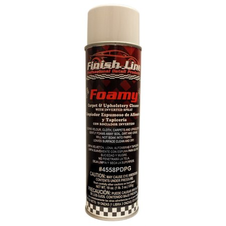 Finish Line Foamy - Carpet and Upholstery Cleaner with Inverted Spray Upholstery Spray Dye