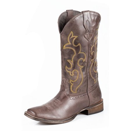 Ladies Western Black Leather Boots - Roper Western Boots Womens Lindsey Leather Brown 09-021-0910-0958 BR