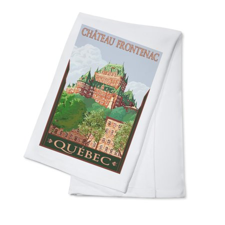 Quebec City, Canada - Chateau Frontenac - Lantern Press Artwork (100% Cotton Kitchen Towel)