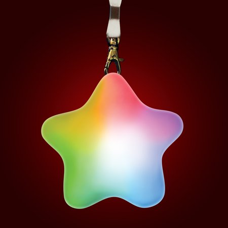 FlashingBlinkyLights Color Change LED Soft Star Light Up Necklace - Light Up Necklace