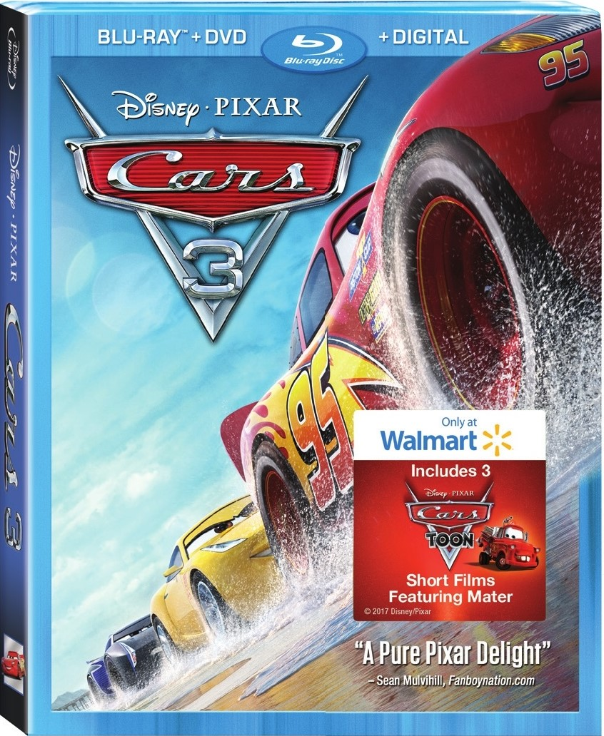 Cars 3 (Walmart Exclusive) (Blu-ray + DVD + Digital HD) by ONLINE
