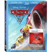 Cars 3 (Walmart Exclusive) (Blu-ray + DVD + Digital HD) by