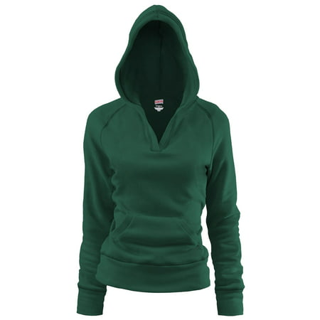 Sweatshirt Oxford - Soffe Women's Rugby Deep V-Neck Hoodie
