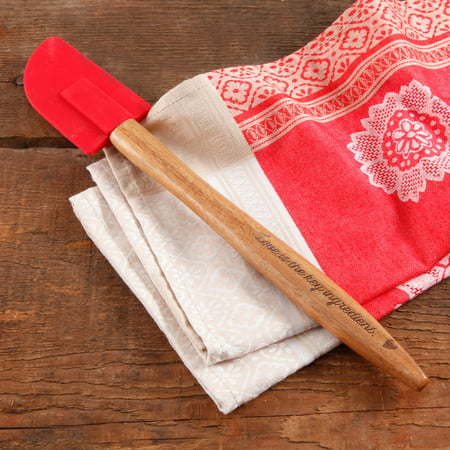 The Pioneer Woman Cowboy Rustic Silicone Head & Acacia Wood Handle Spatula