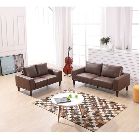US Pride Furniture VIMLE - 2 Piece Leather Living Room Set - Walmart.com