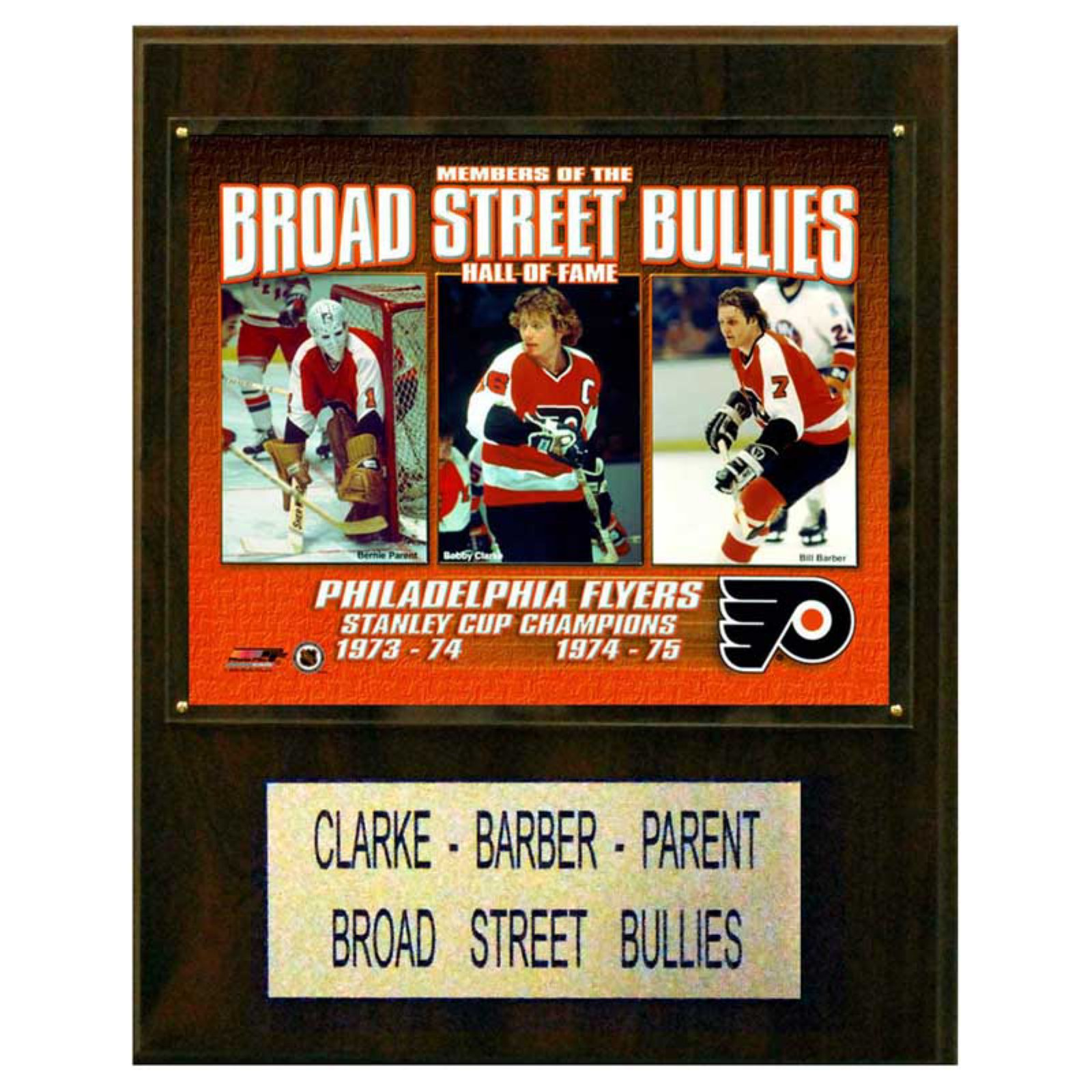 C&I Collectables NHL 12x15 Clarke- Parent- Barber Philadelphia Flyers Player Plaque