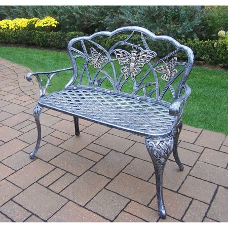 Oakland Living Corporation Majestic Monarch Cast Aluminum and Wrought Iron Loveseat Bench ()