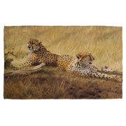 Wild Wings African Cats 2 Bath Towel White 27X52