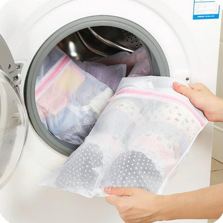 Zipped Washing Bag Laundry Machine Mesh Clothes Socks Bra Underwear Bags
