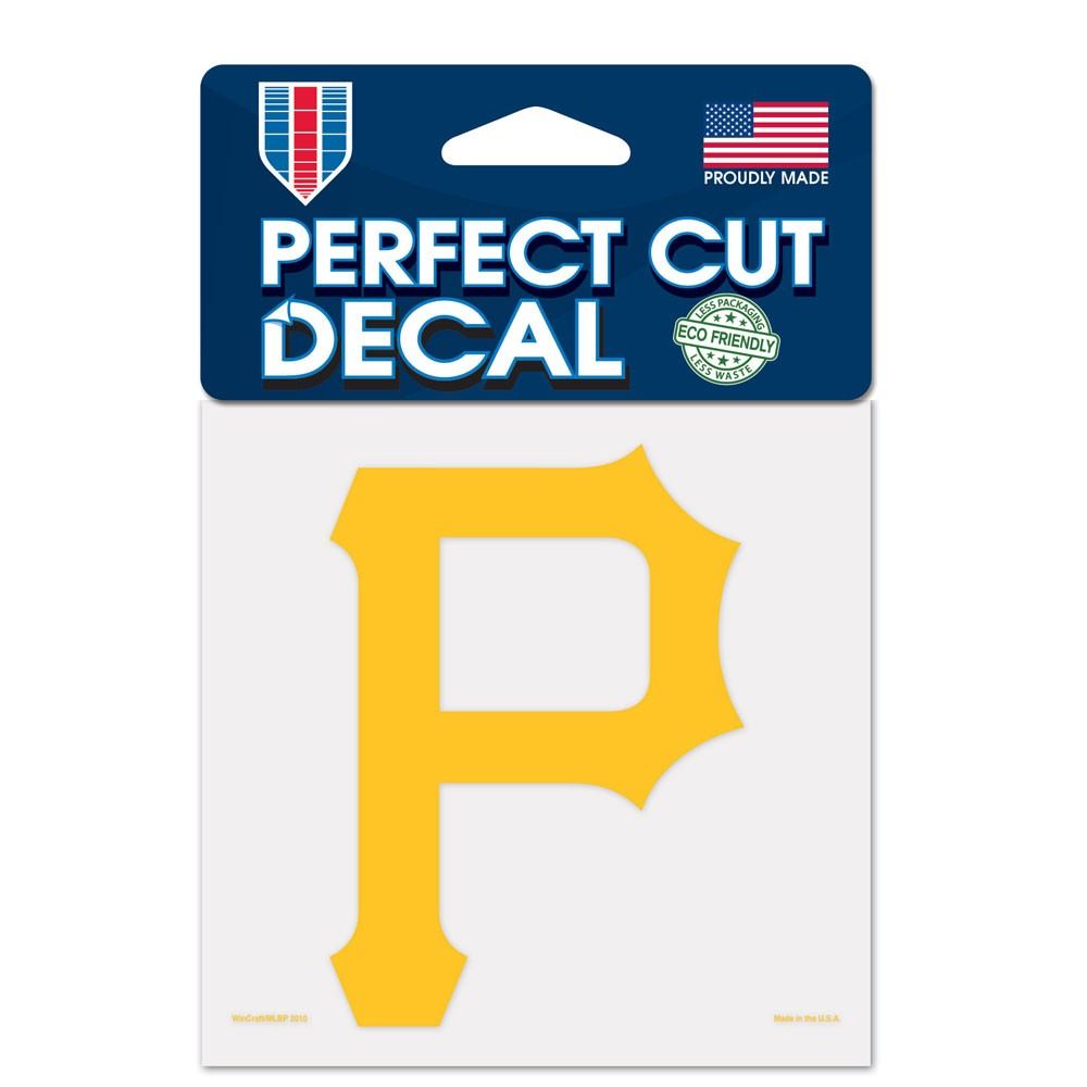 Pittsburgh Pirates Official MLB 4 inch x 4 inch  Die Cut Car Decal by Wincraft