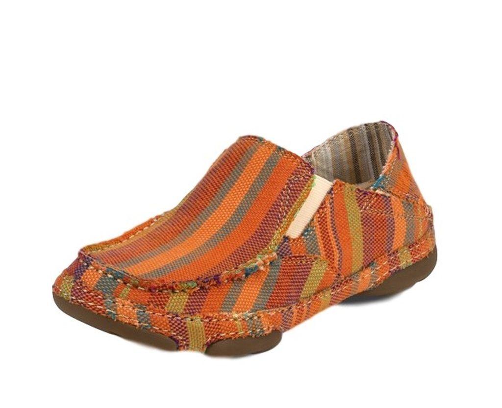 Tony Lama Casual Shoes Womens Oxford Striped Canvas Orange RR3022L by Tony Lama