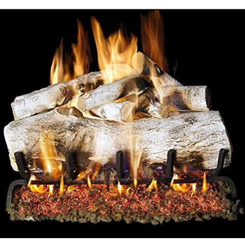 Peterson Real Fyre 30-inch Mountain Birch Log Set With Vented Propane Gas