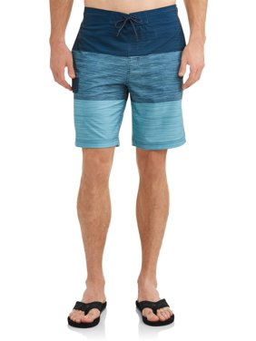 c48ce80178 Product Image Men's Text Color Block Eboard 9-Inch Swim Short , up to size  5XL