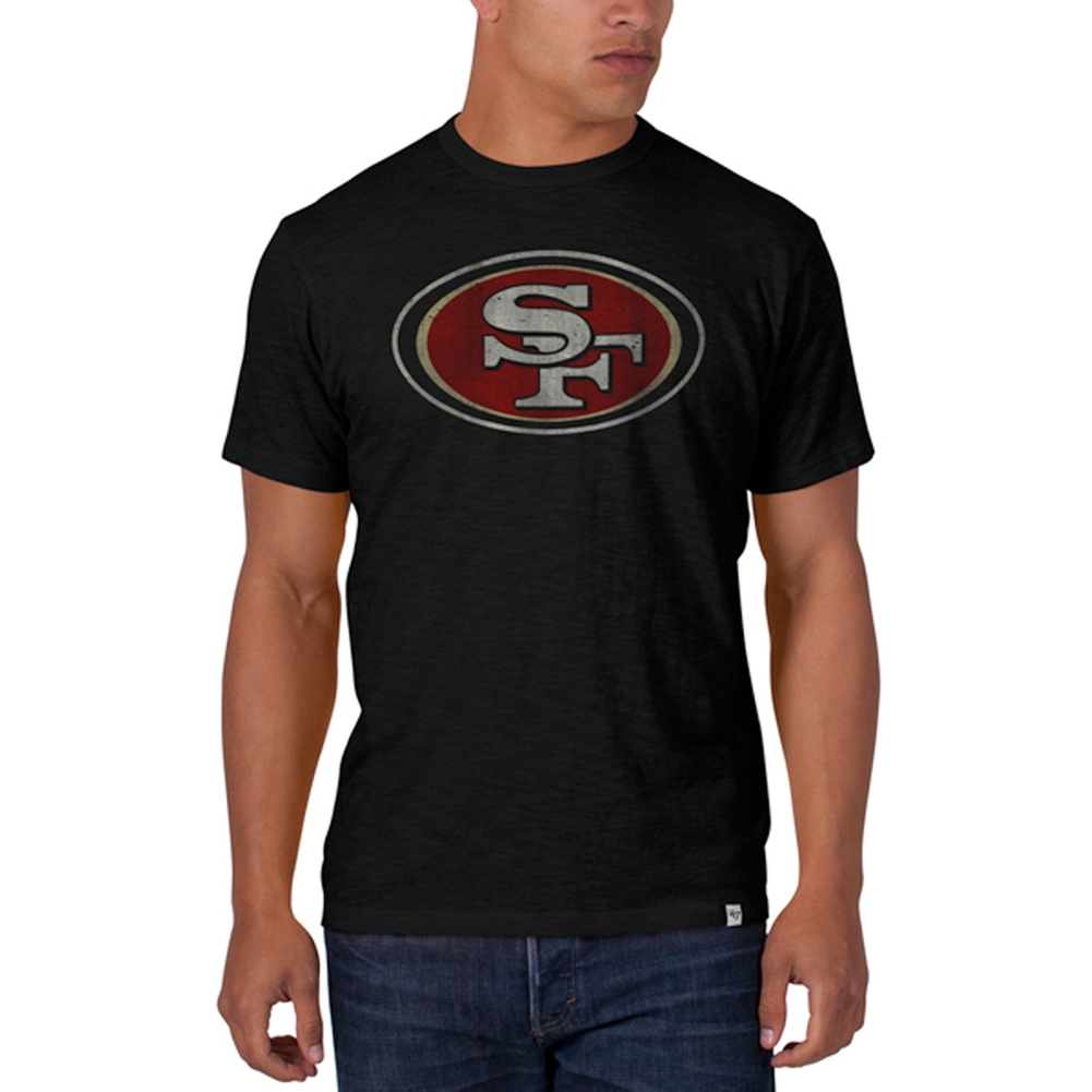 San Francisco 49ers - Logo Scrum Premium Black T-Shirt