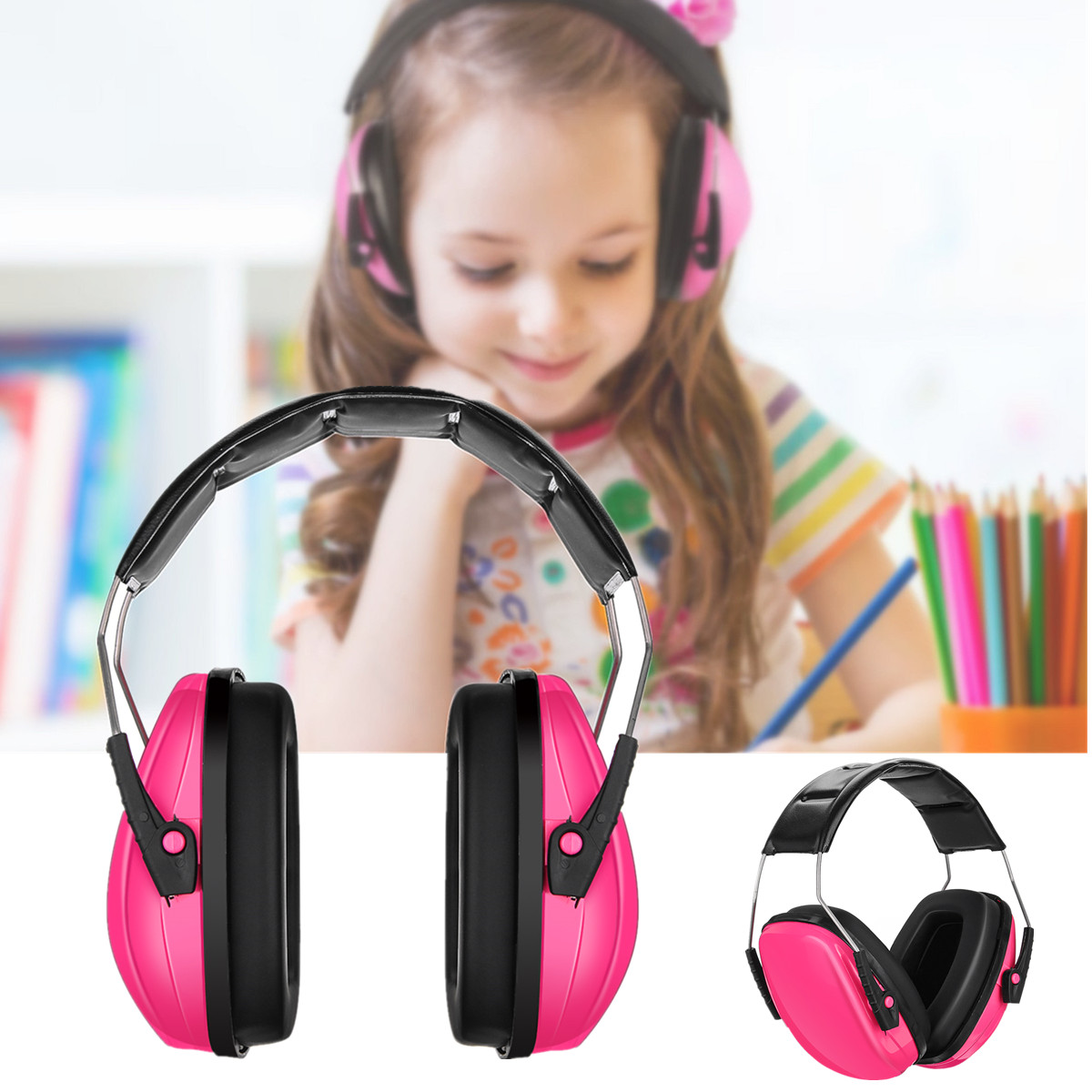 Kids Earmuffs Hearing Protection Ear Defenders Noise Reduction Adjustable  Headband Ear Protection For Child Baby Sleeping Studying | Walmart Canada