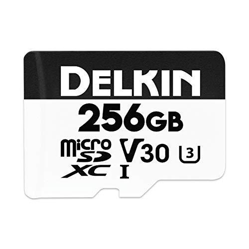 Delkin Devices Advantage 256GB Micro SD XC UHS-I V30 Memory Card